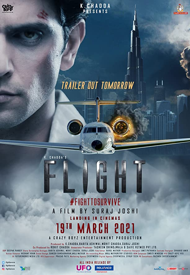 Flight (2021) Hindi 720p PreDVDRip x264 AAC Full Bollywood Movie [850MB]