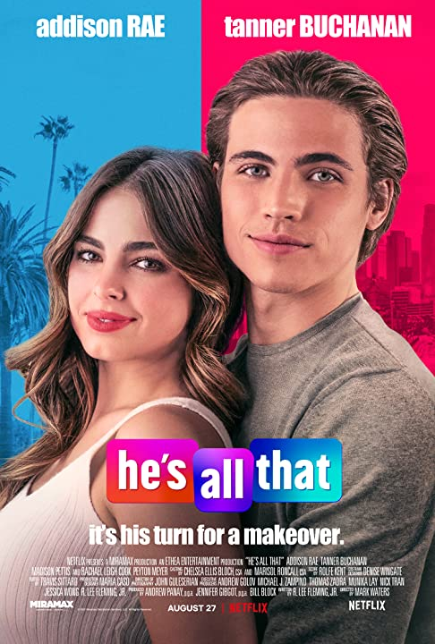 Hes All That (2021) 720p HEVC NF HDRip Hollywood Movie ORG. [Dual Audio] [Hindi or English] x265 AAC MSubs [500MB]