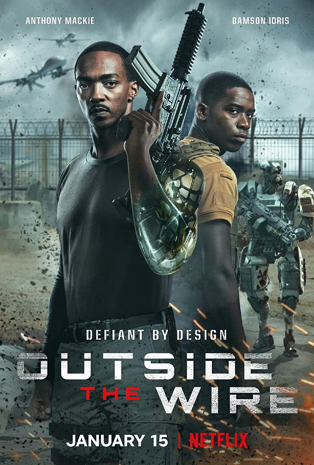 Outside the Wire (2021) Dual Audio [Hindi + English] WebRip ESub